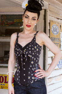 Vintage Styled Daisy Corset Overbust