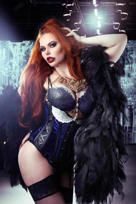 Gothic Inspired Angel Wings Underbust