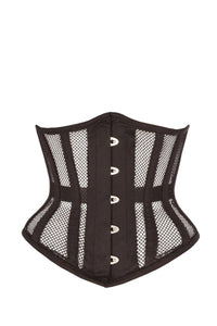 Black Mesh Fronted Underbust
