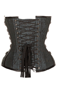 Black Steampunk Corset With Chains