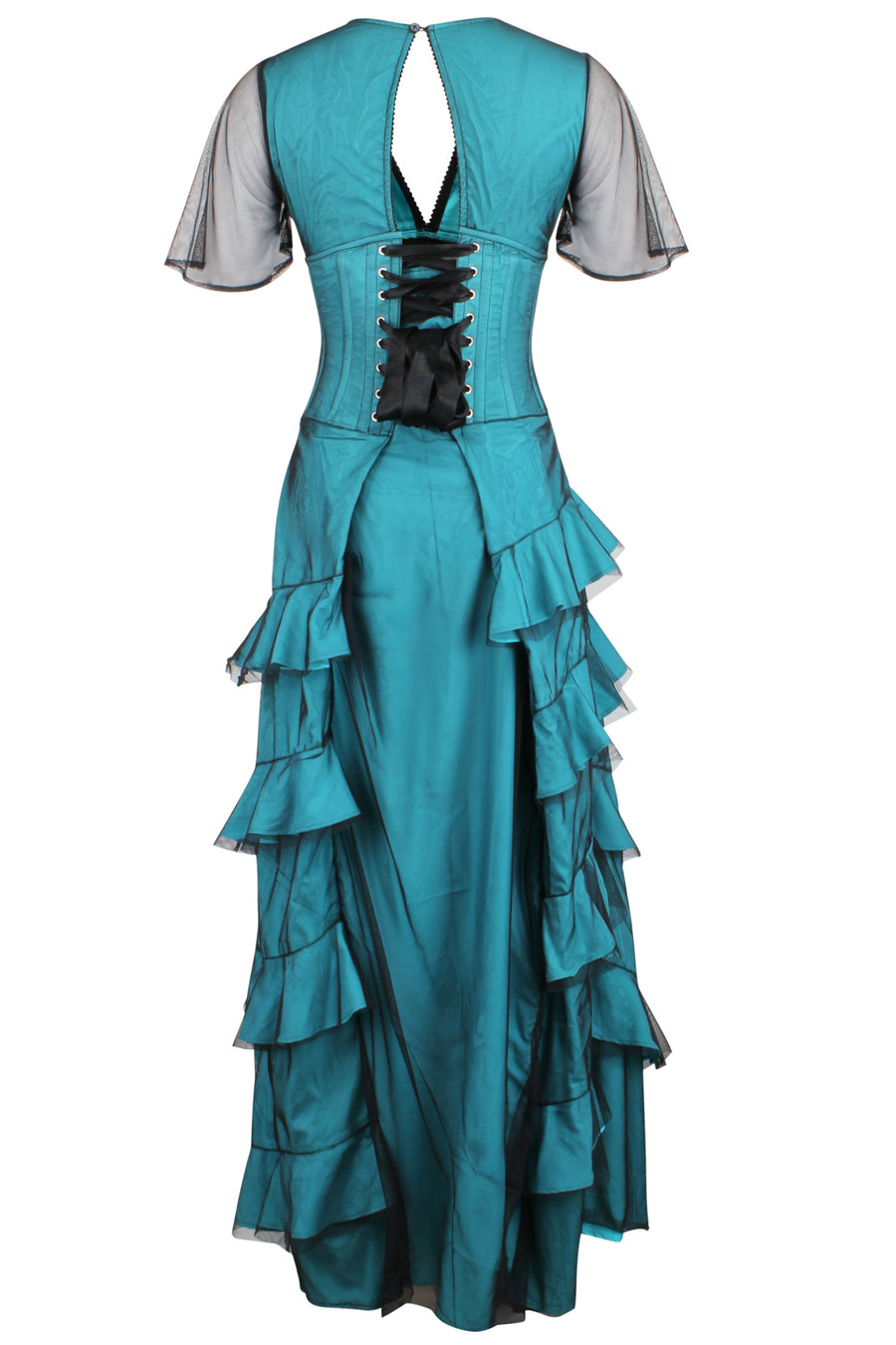 Net Overlay Corset Dress