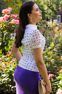 White Polka Dot Summer Corset Shirt