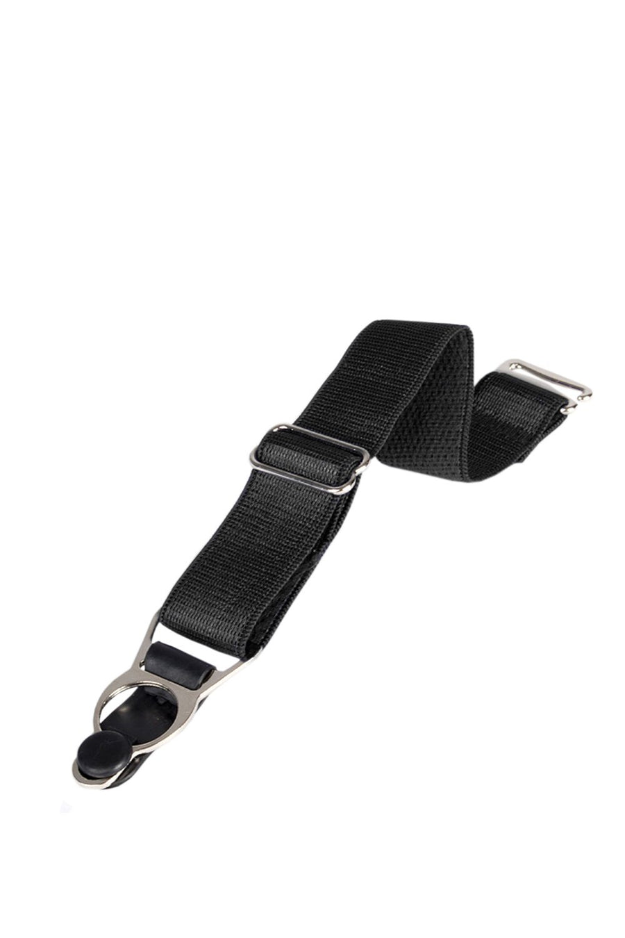 6 x Steel Suspender Clips In Black