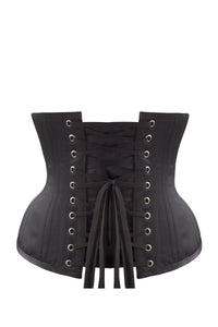Black Waist Training Underbust Corset