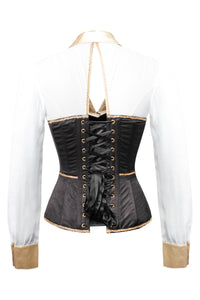 Black and Gold Corset Shirt