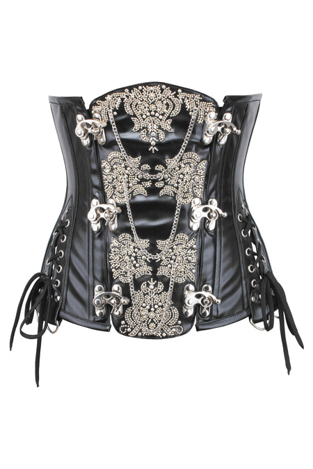 Ornate Leatherette Steampunk Underbust