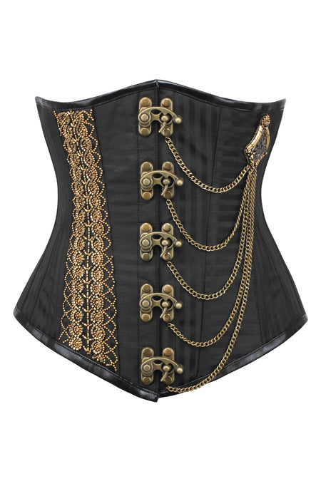 Alternating Stripe Steampunk Underbust