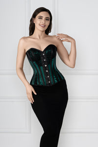Historic Inspired Green Waist Taming Overbust