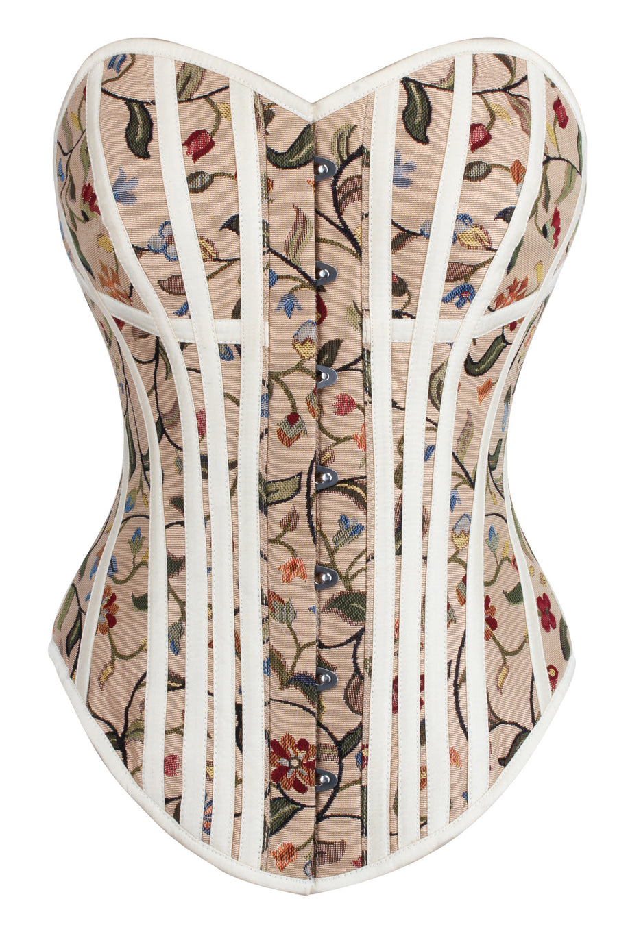 Historically Inspired Floral Print Overbust Corset