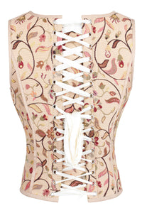 Historic Brocade High Back Overbust Corset