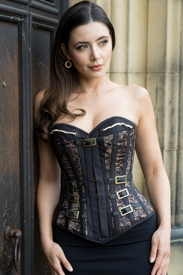 Steampunk Buckled Corset