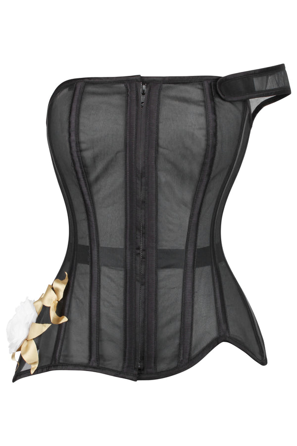 Monroe One Shoulder Overbust Corset
