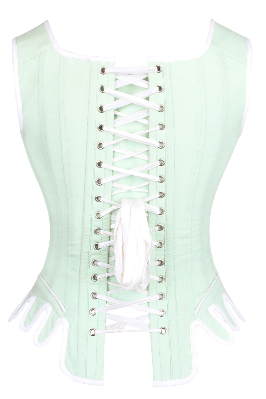 Historically Inspired Spearmint Corset top