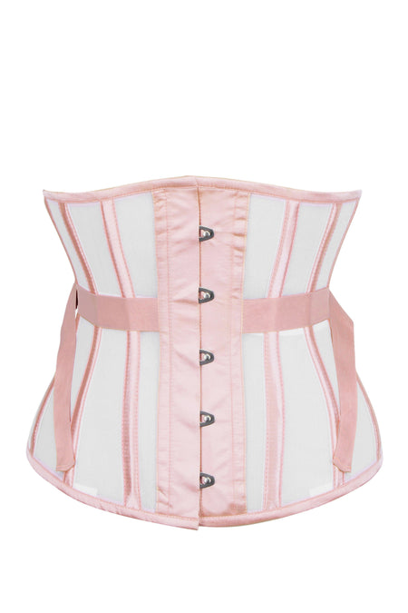 Fan Lacing Peach Blossom Mesh Undertone Corset