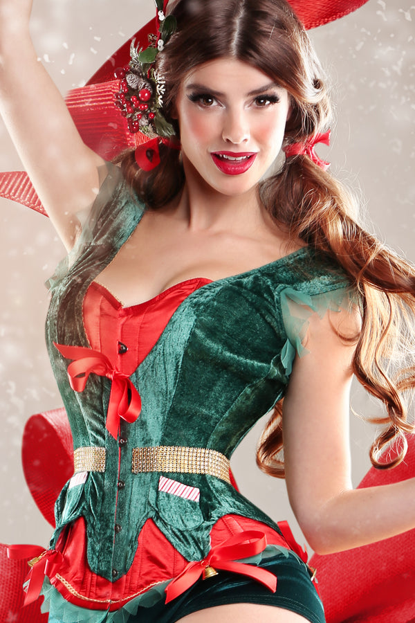 Christmas Elf Steel Boned Corset
