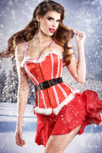 Mrs Claus Steel Boned Xmas Corset