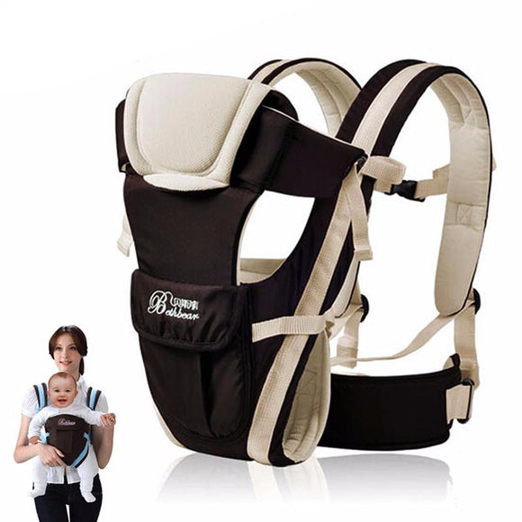 Comfortable Front Baby Carrier Adjustable 4 in 1 - Free Shipping - NewBorn & Mom