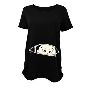 Crazy Cartoon Nursing Maternity Top - Free Shipping - NewBorn & Mom