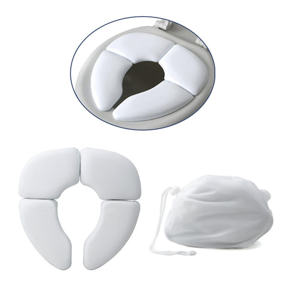 White Portable Folding Baby Toilet Seat - Free Shipping - NewBorn & Mom