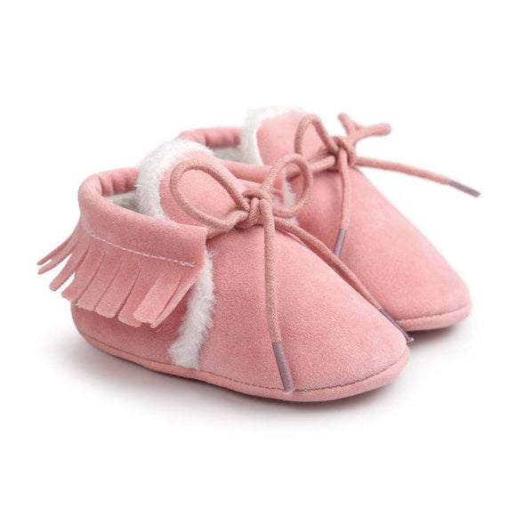 Newborn Baby Boy Girl PU Suede Leather Soft Soled Shoes - Free Shipping - NewBorn & Mom