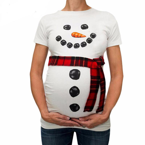 New Design Snowman Printing Maternity Clothes - Free Shipping - NewBorn & Mom