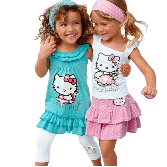 Baby Girls Hello Kitty Suits Children 3Pcs Sets - Free Shipping - NewBorn & Mom