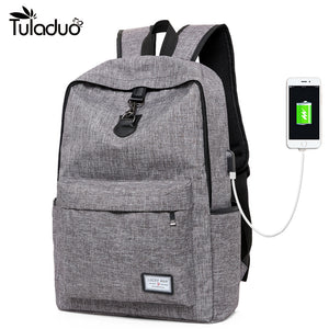 New Design With USB Charging Laptop Backpack