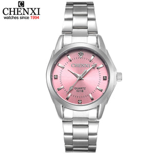 2017 CHENXI Brand Watch with Rhinestones and Stainless Steel Band