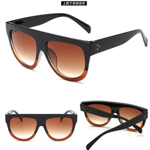 2017 Hot Flat Top Mirror Sun Glasses For Woman