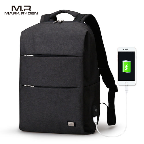 Water Repellent MarkRyden 15.6inch Laptop Backpack With USB Charger