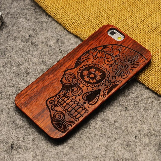 High Quality Shockproof Natural Wood Phone Cases For iPhone X 5 5S 6 6Plus 7 7Plus