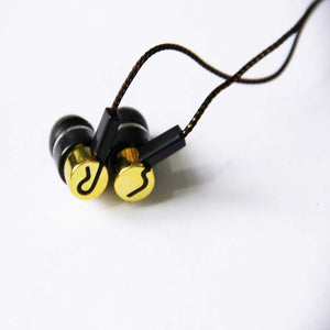 Roping Stereo Earphone Noise Isolating Reflective Fiber Cloth