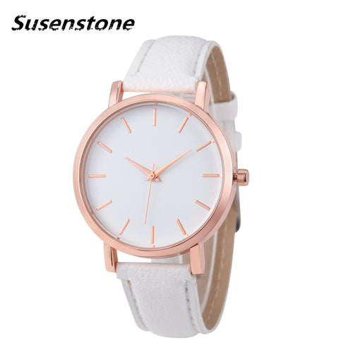 2017 SUSENSTONE Brand Quartz Watch With Leather Wrist Band