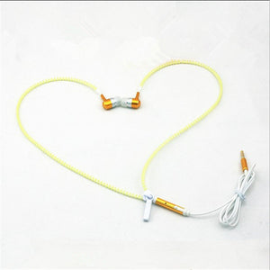 High Quality Glow In The Dark  Light Metal Metal Earbuds With Mic