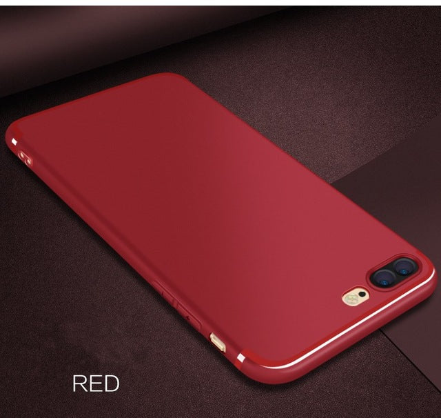 Luxury Back Soft Matte Silicon Cases for iPhone X 7 7plus 6 6Plus 5 5s