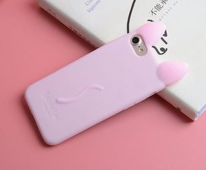 3D Cartoon Cat Silicone Case for iPhone X  4 4S 5 5S SE 6 6S Plus 7 7 Plus 5.5 12 Colors In Stock