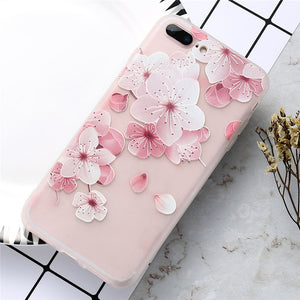 KISSCASE Flower Patterned Silicone Cases For iPhone X 6 6s 6plus 7 7plus