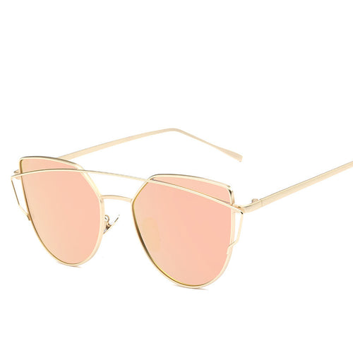 2017 Mirrored Cat eye Women Sunglasses