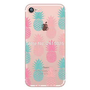 Summer fruit Clear case soft silicon cover For iphoneX 7 6 6S 8 plus 5S