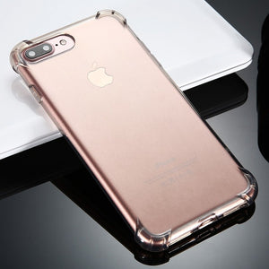 New Anti-knock Transparent Case for iPhoneX 6 6s Plus 7 7 Plus