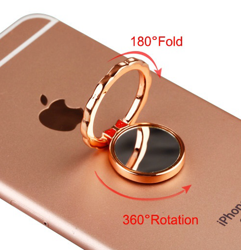 Stand - Rose Gold Mirror Metal Ring Stand