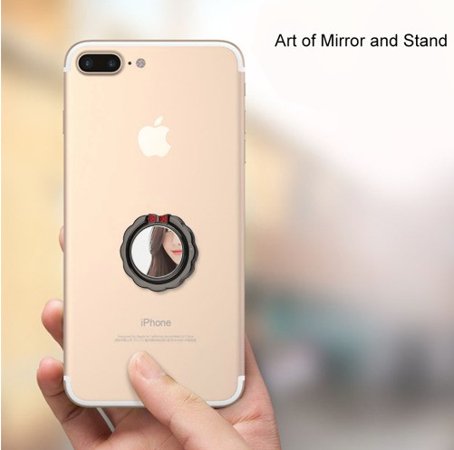 Stand-Black Mirror Metal Ring Stand