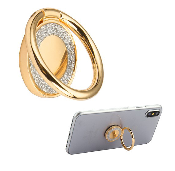 Stand-Gold 3D Crystal Bling Metal Ring Stand