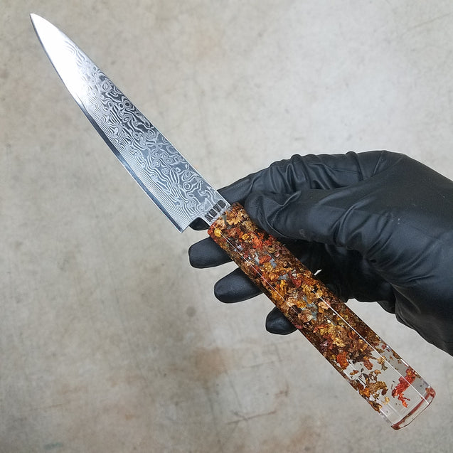 Fluttering Maple Leaves - 6in (150mm) Damascus Petty Culinary Knife
