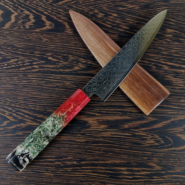 Dirty Money - 6in (150mm) Damascus Petty Culinary Knife