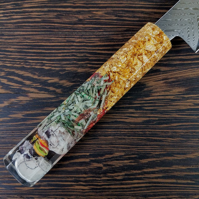 Burger Twins - 6in (150mm) Damascus Petty Culinary Knife