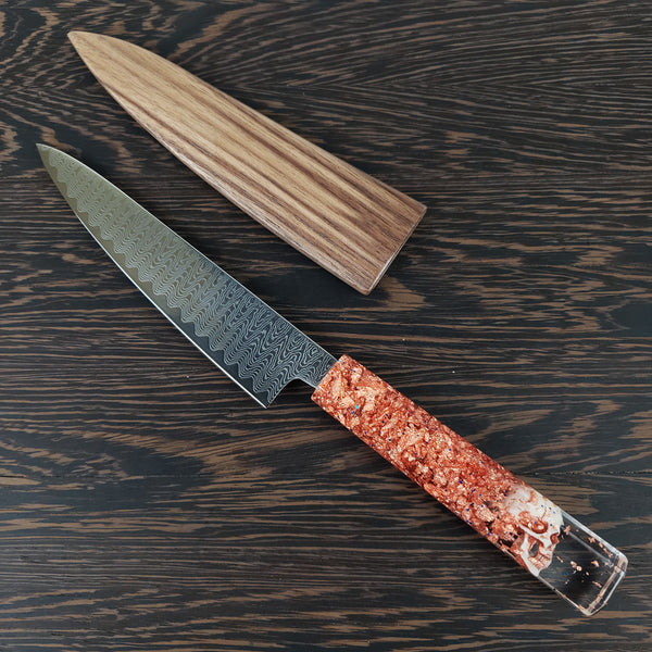 "Copper Head - 6"" (150mm) Petty - Damascus Steel"