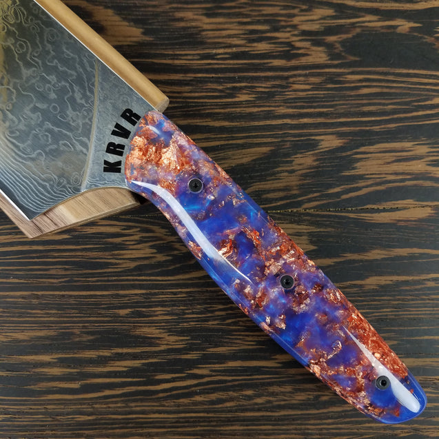 Red Rock - 10in (254mm) Damascus Gyuto - Raindrop - Smooth Handle