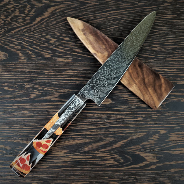 In Crust We Trust - 6in (150mm) Damascus Petty Culinary Knife