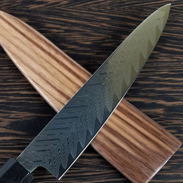 Petty 6in (150mm) Culinary Knife BLADE ONLY - Sawtooth Damascus